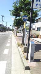 「港町」バス停留所