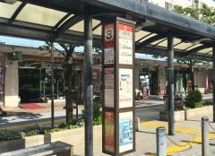 「竹の塚駅東口」バス停留所