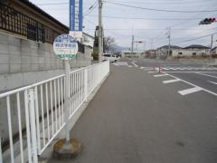 「時沢学校前」バス停留所
