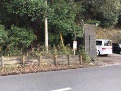 「犬鳴山」バス停留所