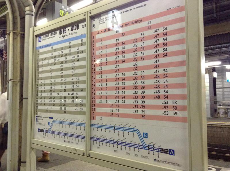京都行時刻表