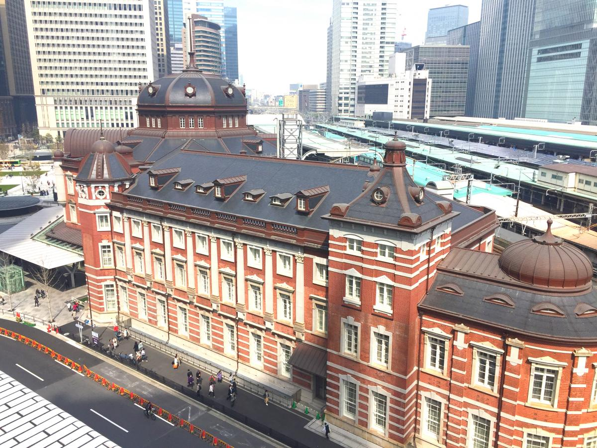 東京駅の雰囲気です。