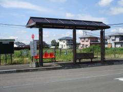 「堰場」バス停留所