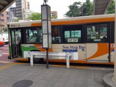 「築地駅前」バス停留所