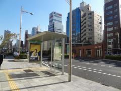 「長堀橋」バス停留所