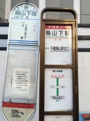 「烏山下宿」バス停留所
