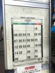 「サッカー場前」バス停留所