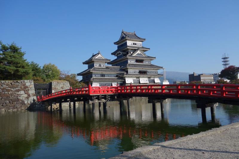埋の橋と松本城