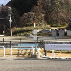 「三春清水」バス停留所