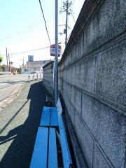 「片桐西小学校」バス停留所