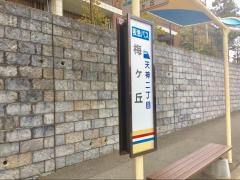 「梅ケ丘」バス停留所