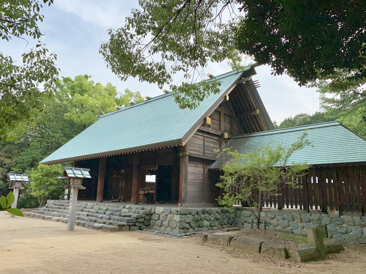 東雲神社。本殿。