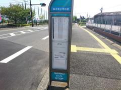 「桜木東小学校前」バス停留所