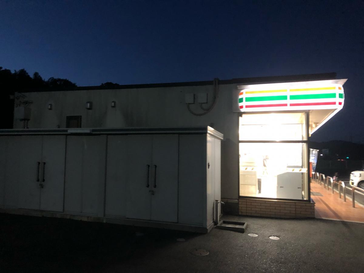 セブンイレブン田布施麻郷店の外観です。