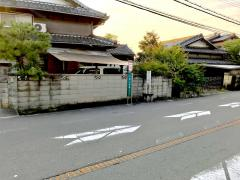 「浜上津屋」バス停留所