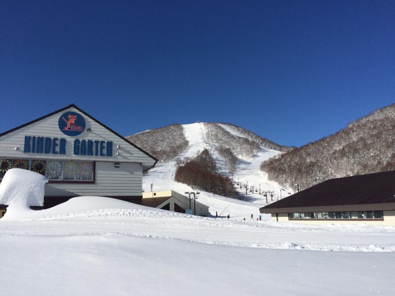 天気の良い猫魔スキー場
