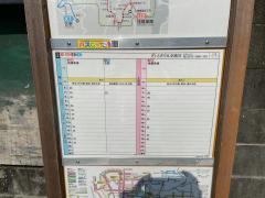 「中水道」バス停留所