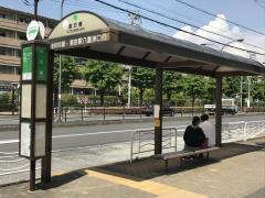 「辰巳橋」バス停留所
