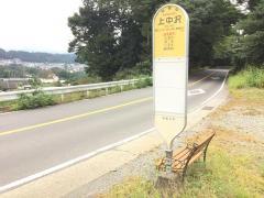 「上中沢」バス停留所