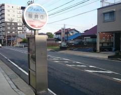 「桜井」バス停留所