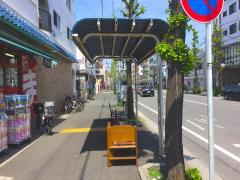 「臨港中学校前」バス停留所
