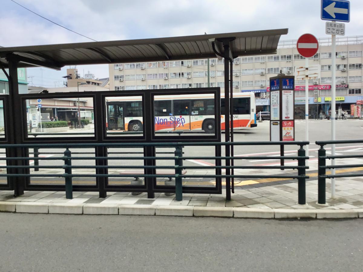 「津久野駅前」バス停留所