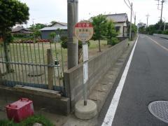 「白子驚」バス停留所
