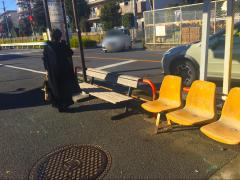 「市営アパート」バス停留所