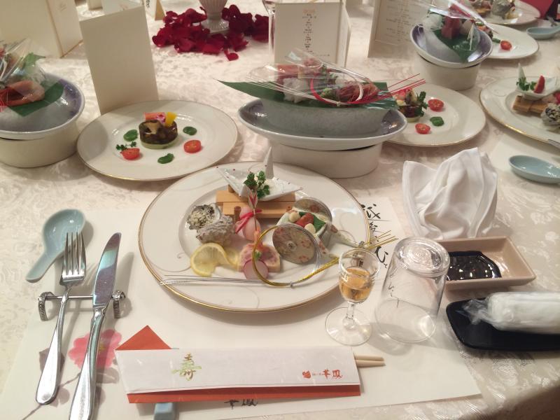 結婚式の料理です。