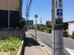 「京友会団地入口」バス停留所